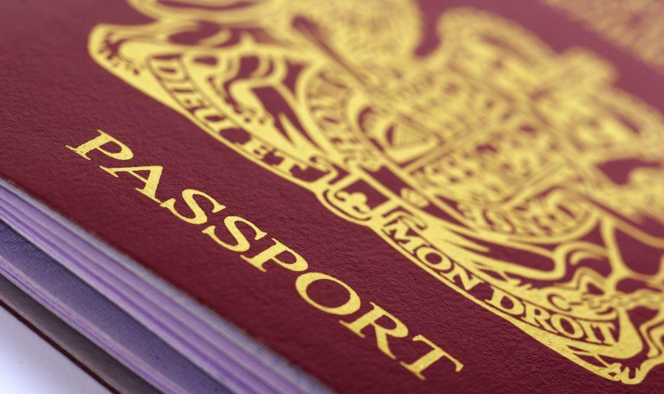 Close up passport image