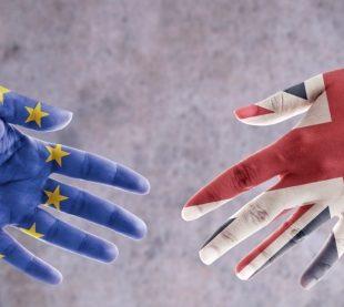 EU and UK shaking hands