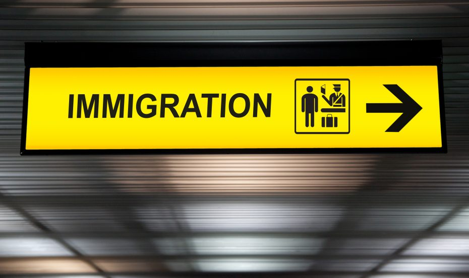 immigration airport sign