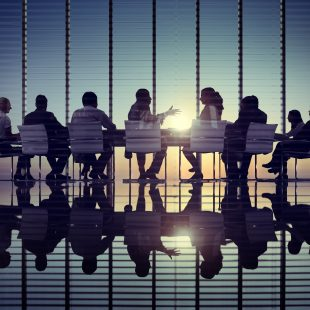 board meeting round a table