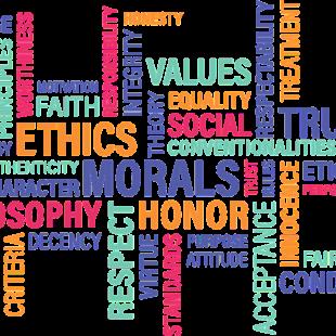 Ethics wording collage